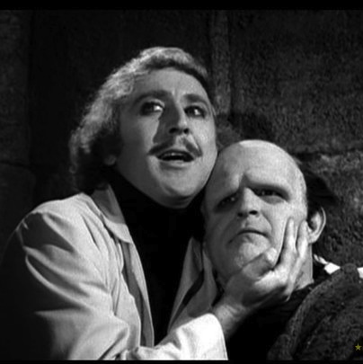 Young Frankenstein boyish face