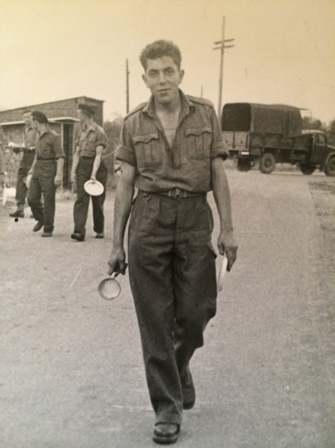 My dad :) God only knows how he made it into the army...