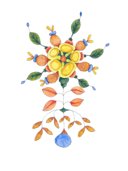 x stitch flower